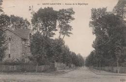 Saint Gratien - Avenue De La République  - Scan Recto-verso - Saint Gratien