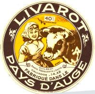P 357. ETIQUETTE DE FROMAGE  -LIVAROT  GUILBERT SAINTE MARGUERITE DE VIETTE  14 AR (CALVADOS ) - Cheese
