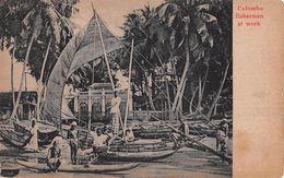 "06676 ""COLOMBO FISHERMEN AT WORK"" ANIMATA, BARCHE   CART NON SPED - Sri Lanka (Ceylon)"