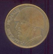 ITALIE – MUSSOLINI 20 Lires 1943 Rome – Monnaie Apocryphe - 1861-1946 : Royaume