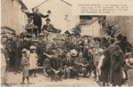 15 - CHAUDESAIGUES - REPRO Photo - La Réception à Son Pays Natal De M. Costeroste... Plus Bel Auvergnat De France - Other Municipalities