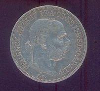 HONGRIE – Ferencz Jozsef – 5 Korona 1900 - Argent - Hongrie