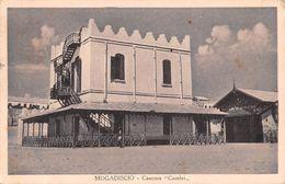 "06679 ""SOMALIA - MODADISCIO - CASERMA CAROLEI"" ANIMATA. CART SPED 1935 - Somalia"