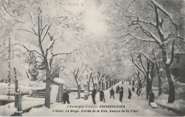 15 - CHAUDESAIGUES - L'Hiver - La Neige - Entrée De La Ville - Avenue De St-Flour - Other Municipalities
