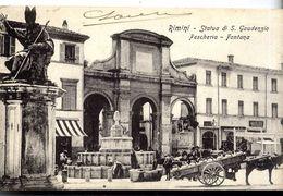 ITALIE  RIMINI  STATUA DI S GAUDENZIO - FESCHERIA FONTANA - Rimini