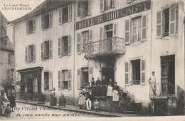 """15 - CHAUDESAIGUES - Hôtel Du Midi Ginisty - """"De L'Hôtel Thioton Je Vous Envoie Mes Amitiés"""" - Other Municipalities"""
