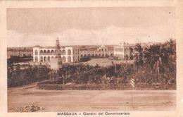 """06684 """"ERITREA - MASSAUA - GIARDINI DEL COMMISSARIATO""""  CART  SPED 1935 - Erythrée"""