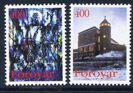 FAROE ISLANDS 1995 Christmas: Catholic Church  MNH / **.  Michel 289-90 - Faroe Islands