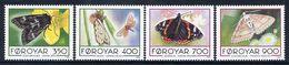FAROE ISLANDS 1993 Butterflies  MNH / **.  Michel 252-55 - Faroe Islands
