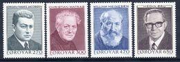 FAROE ISLANDS 1988 Writers II  MNH / **.  Michel 168-71 - Faroe Islands
