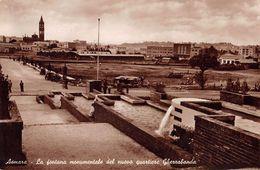 "06687 ""ERITREA - ASMARA - LA FONTANA MONUMENTALE DEL NUOVO QUARTIERE GHEZZABANDA""  ANIMATA, VERA FOTO  CART SPED 1939 - Erythrée"