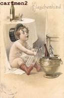 BELLE CPA GAUFREE FLASCHENKINF ENFANT BONBONNE BOUTEILLE EMBOSSED ILLUSTRATEUR - Babies