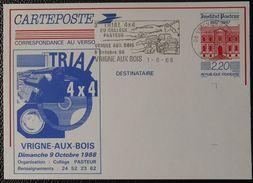 12 068 Flamme Oblitération Vrigne Aux Bois 08 Ardennes 3 Trial 4 X 4 Du Collège Pasteur 1 8 88 - Postmark Collection (Covers)