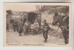 CPA MILITARIA GUERRE 1914-18 - OFFEMONT (Territoire De Belfort) Convoi De Ravitaillement - War 1914-18
