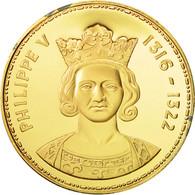 France, Medal, Les Rois De France, Philippe V, History, FDC, Vermeil - France