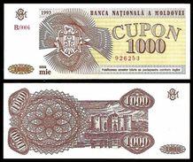 Moldova 1000 CUPON 1993 P 3 UNC (Moldavie, Moldavia, Moldawien, Moldavië) - Moldavië