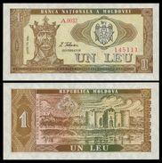 Moldova 1 LEU 1992 P 5 UNC (Moldavie, Moldavia, Moldawien, Moldavië) - Moldavië