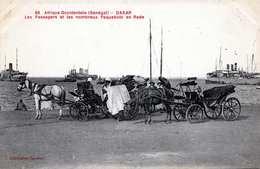 190?, SENEGAL, DAKAR THE PASSENGERS AND MANY SHIPS IN THE HARBOUR; - Senegal