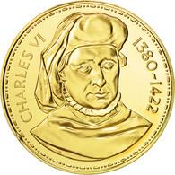 France, Medal, Les Rois De France, Charles VI, History, FDC, Vermeil - France