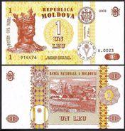 Moldova 1 LEU 2002 P 8f UNC (Moldavie, Moldavia, Moldawien, Moldavië) - Moldavië