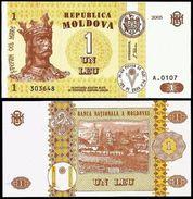 Moldova 1 LEU 2005 P 8g UNC (Moldavie, Moldavia, Moldawien, Moldavië) - Moldavië