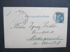 GANZSACHE Korrespondenzkarte Sandau Zandov - Niedergrund /// D*27769 - 1850-1918 Imperium