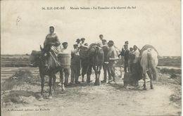 Ile De Ré (17) - Marais Salants - Le Tasselier Et Le Charroi Du Sel - Animé - 1910 - Ile De Ré
