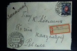 Russian Latvia : Frontside Envelop Registered  Alt Schwanenburg 1917 - Covers & Documents