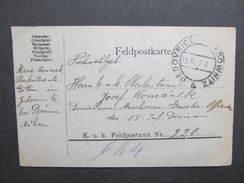 GANZSACHE Korrespondenzkarte Jedownitz Jedovnice 1917 /// D*27779 - 1850-1918 Imperium