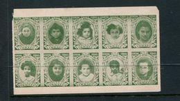 """General Israel Orphans Home For Girls Sheet Of 10 Reklamemarke Poster Stamp Vignette No Gum 4 1/2 X 2 3/4"""" - Cinderellas"""