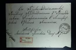 Russian Latvia : Registered Cover 1904 Kurland Griwa - Semgallen - 1857-1916 Imperium