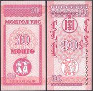 Mongolia 10 MONGO ND 1993 P 49 UNC (Mongolei, Mongolië, Mongolie) - Mongolia