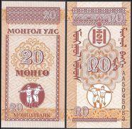 Mongolia 20 MONGO ND 1993 P 50 UNC (Mongolei, Mongolië, Mongolie) - Mongolia