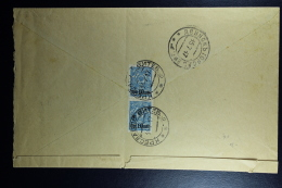 Russian Latvia : Registered Cover 1917 Witebsk Kraslau - Covers & Documents