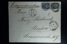 Russian Latvia : Registered Cover 1904 Kurland Libau Liepaja R CANCEL No Number - 1857-1916 Imperium