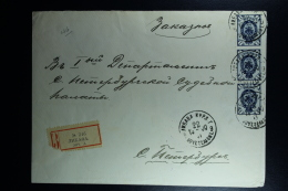 Russian Latvia : Registered Cover 1900 Kurland Libau Liepaja - Covers & Documents
