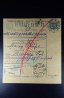 Russian Latvia : Money Transfer 1913 Kurland Libau - Storia Postale