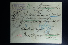 Russian Latvia : Registered Cover 1901 Kurland Libau Wertzettel Value Declared Waxed Sealed - 1857-1916 Imperium
