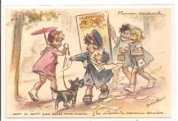 Illustrateur - Germaine BOURET - L'Homme Sandwich. - Bouret, Germaine
