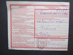 GANZSACHE Empfangsschein Zeleznice Eiusenstadt 1911/// D*27790 - Briefe U. Dokumente