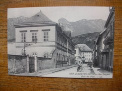 """Repro .... Albertville , La Rue Pargoud , école Des Filles """""""" Carte Animée Cycliste """""""" - Albertville"""