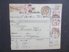 POSTBEGLEITADRESSE Teplitz Schönau 2 - Troppau 1902  /// D*27799 - 1850-1918 Imperium