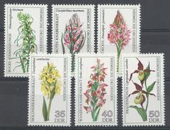 OOST-DUITSLAND 1976 MI.NR: 2135-2140 Heimische Orchideen  MNH / POSTFRIS / NEUF SANS CHARNIERE - [6] République Démocratique