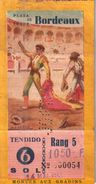 Billet De Corrida 14/05/1953 PLAZA DE TOROS De Bordeaux 33 - Scans Recto-verso - Biglietti D'ingresso
