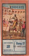 Billet De Corrida 06/07/1952 PLAZA DE TOROS De Bordeaux 33 - Scans Recto-verso - Tickets D'entrée