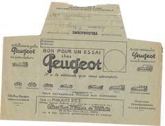 Telegramme Pub Peugeot Pour La Longueville Nord 1925 - Marcophilie (Lettres)