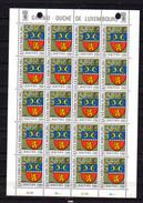 1981,  Caritas, Armoiries Municipales, 991 / 995 **en Feuille De 20, Cote 130 €, - Full Sheets
