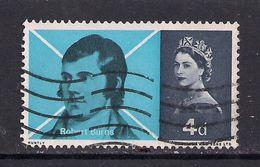GB 1966 QE2 4d Robert Burns Used Stamp SG 685 ( R403 ) - 1952-.... (Elizabeth II)