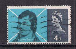 GB 1966 QE2 4d Robert Burns Used Stamp SG 685 ( T684 ) - 1952-.... (Elizabeth II)