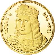 France, Medal, Les Rois De France, Louis V, History, FDC, Vermeil - France
